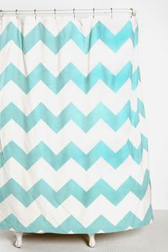 Chevron shower Curtain- yes please!