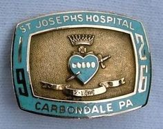 Joe's Hospital School of Nursing Carbondale, PA Nursing School Graduation, Nursing Schools, Graduate School, St Joseph's Hospital, Love Is A Verb, Nursing Pins, Pa School, Vintage Nurse, Nurses Day