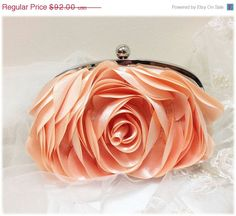 Wedding clutch bridesmaid clutch blush bag blush by GlamDuchess