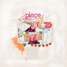 love the pink and orange scrapbook page from Melissa at DesignerDigitals.com