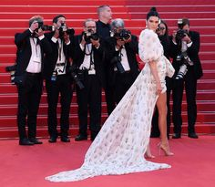 Kendall Jenner from Cannes Film Festival 2017: Star Sightings  All eyes on Kenny! The supermodel flashes serious leg inGiambattista Valli at the premiere for120 Beats Per Minute.