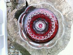 recycled garden decor  | Recycled Glass Flower Sun Catcher Garden Art Garden Decor - Made of ...