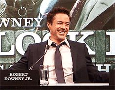 Robert Downey Jr. enthusiastically laughing
