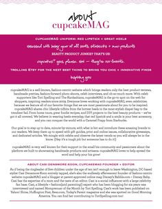 """Why CUPCAKE? Casi here! Thanks to my Dad, """"Cupcake"""" is my nickname (since I was born) and defines the sweet desire we all have for all things stylish. The internet is the wave of the future. While ..."""