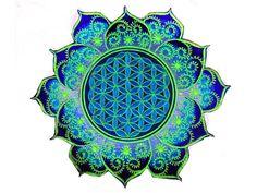 Fraktal Blume des Lebens - blau von ImZauberwald auf DaWanda.com