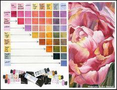 Watercolor, Art Drawings, Drawings, Flower Art, Artist, Tempera Painting, Watercolor Mixing, Art Journal, Artist Materials