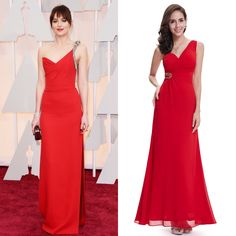 50 Shades of Grey star Dakota Johnson looked fabulous on the red carpet in this one shoulder red evening dress. Steal her style in Ever Pretty's One Shoulder Empire Waist Beaded Long Evening Dress!   #EverPretty #EverPrettyDress #DakotaJohnson #Actress #RedCarpet #RedDress #Dress #Fashion #Style #50ShadesofGrey #OneShoulder #OneShoulderDress #Prom #PromDress