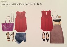 Stitch Fix Review September  2014    Landers Lattice Crochet Detail Tank by Pomelo