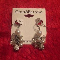 Adorable Silver/Pearl Earrings Absolutely adorable silver/pearl drop earrings. New Condition Jewelry Earrings