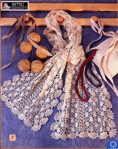 Beautiful lace scarf, free crochet patterns