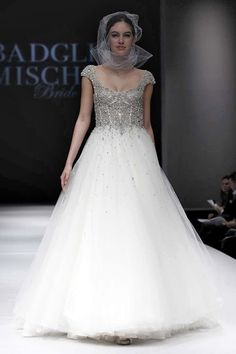 Graphite Jeweled Ball Gown    Badgley Mischka   The Best of Bridal Fashion Fall 2015