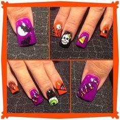 Halloween mix by Oli123 - Nail Art Gallery nailartgallery.nailsmag.com by Nails Magazine www.nailsmag.com #nailart