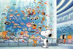 SNOOPY & WOODSTOCK~ at the Tokyo Aquarium
