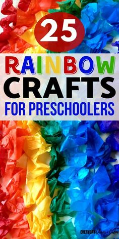 Looking for some rainbow inspiration? Here are more than 25 amazing rainbow crafts and activities to try out with your preschoolers! These preschool activities are great for teaching colors and helping kids explore the colorful world they live in!