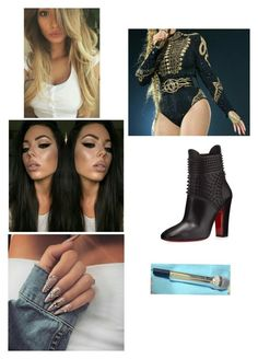 """""""Independent Women/Bootylicious/Bug A Boo/Telephone/Say My Name/Jumpin/Survivor"""" by paukar ❤ liked on Polyvore featuring Christian Louboutin"""