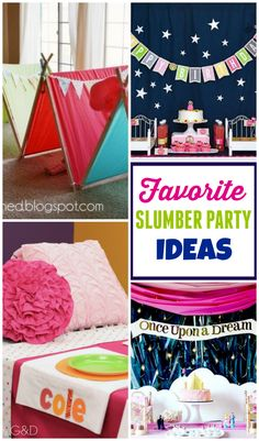 Our all-time favorite slumber party ideas to keep the kids entertained until the wee hours of the morning !