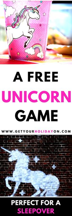 This hilarious Would You Rather Unicorn Questions! game is FUN and FREE! #DIY #unicorn #unicorntribe #unicornhair #sleepover