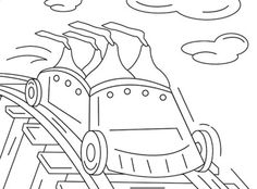 This Coloring Page Features HERSHEYS KISSES Brand Chocolates Taking A Wild Roller Coaster Ride