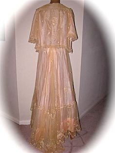 Antique 1910s EDWARDIAN Trousseau Pale Pink Silk by StepInTime