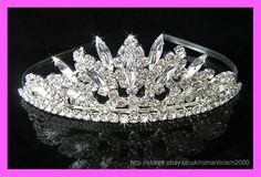 Wedding/Bridal crystal veil tiara crown headband CR063  ebay seller: romanticism2000