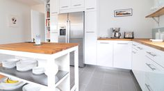 Beautiful Scavolini Kitchens Design Idea: White Scavolini Kitchens With Wooden Countertops