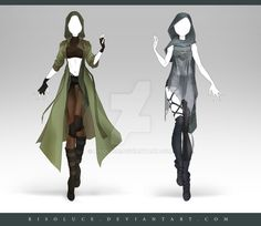 (OPEN) Adoptable Outfit Auction 189 - 190 by Risoluce.deviantart.com on @DeviantArt