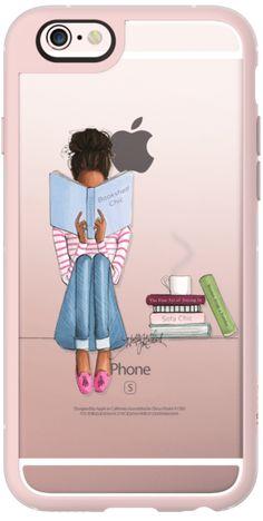 Casetify iPhone 6s New Standard Case - Bookshelf Chic (Girl Reading Transparent Case) by H. Nichols Illustration