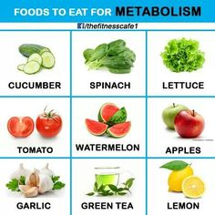 Foods for metabolism.
