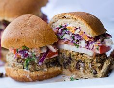 Just made these and they are amazing!!! Black bean burgers w a spicy slaw, all natural and delicious! Make. These. Tonight.
