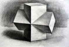 美术画廊- 几何体素描-中国美术高考