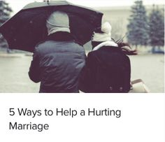 5 Ways to Help a Hurting Marriage