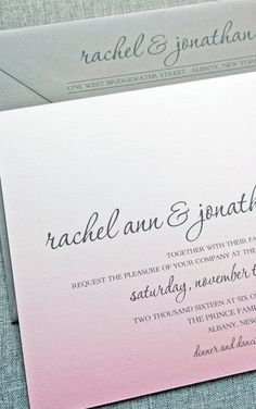 Beautiful font, gorgeous invitation suite. By Cricket Printing