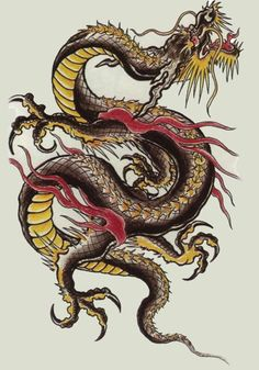 """Dilong, the Underground Dragons, are earth dragons whose task it is to preside over rivers and streams. According to some accounts, they are the female counterpart of the Shenlong and they fly only in order to mate."""