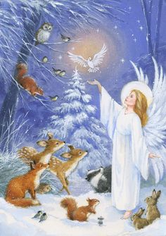 Christmas Poems, Christmas Nativity Scene, Christmas Scenes, Christmas Angels, Christmas Art, Beautiful Christmas, Vintage Christmas Images, Retro Christmas, Christmas Pictures