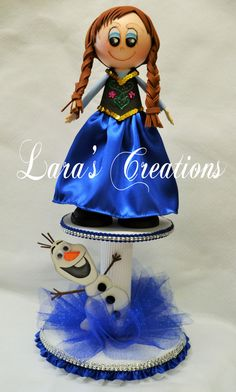 Anna Centerpiece Party Centerpiece Frozen por LarasCreationsShop