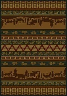United Weavers Marshfield Genesis Pine Valley Lodge Runner Rug x Brown Cossette, Lodge Style, Accent Rugs, Big Game, Outdoor Rugs, Indoor Outdoor, Outdoor Decor, Artwork Design, Lodges