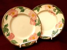 Franciscan DESERT ROSE salad plates made in  England. Add to a collection or start a new one! #Franciscan