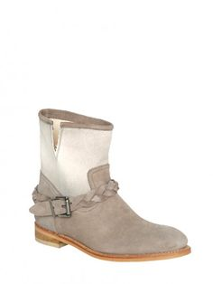ANDALUXX Taupe suede ankle boots
