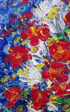 Detail Image for art RED WHITE FLOWERS BASKET