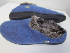 2c4087128548 Acorn Women s Indoor Outdoor Boiled Wool Jam Mule Slipper 6.5-7.5  fashion   clothing