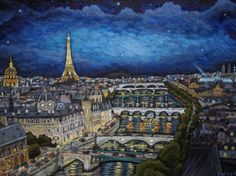 """Saatchi Art Artist Christophe Williart; Painting, """"Les feux de Paris - SOLD"""" #art"""