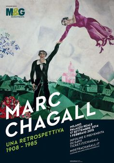 Locandina mostra Marc Chagall a Palazzo Reale -Milano #ChagallMi