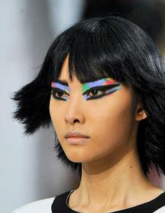 Love this colourful graffiti makeup that was created by Peter Phillips for the Chanel SS14 show