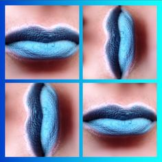 Lip bluesky  #lips #lips💋 #lipscolorblock #levres #pretty #glitter #makeupaddict #cosmetics #lipstick #style #beauty #cosmetic #makeup #instamakeup #lipmakeup #gemeymaybelline #lipblue #levresbleues