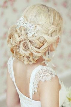 This would work with hair all up, all down or halfway...also with or without a veil!
