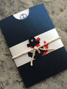 Scroll wedding invitation,wedding This invitation is a cute size box with a scroll. 2 Birthday, Sailor Birthday, Nautical Mickey, Nautical Party, Nautical Wedding Invitations, Baby Invitations, Baby Shower Themes, Baby Boy Shower, Decoration Communion