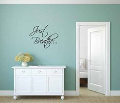 Just Breathe Vinyl Wall Words Decal Sticker Graphic