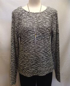 Avalin  - Black and white sweater with subtle sequins  - $79