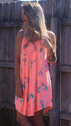 Slinky Paisley Dress, Orange
