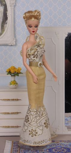 Golden Maize for Silkstone Barbie by HankieChic on Etsy